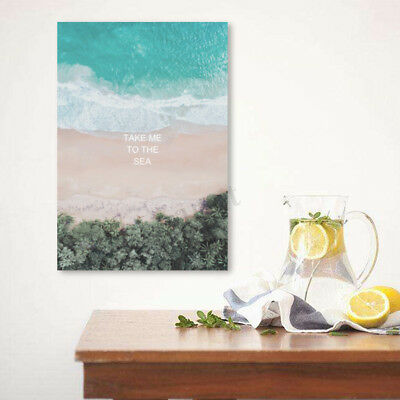 Modern Beach Canvas Print Painting Wall Art Oil Picture Home Decor Unframed NEW