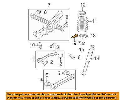 GM OEM Rear Suspension-Lateral Arm Bolt 11518725