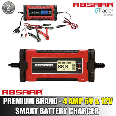 Absaar Pro 4Amp 6V 12V Intelligent Auto Car Bike Smart Battery Charger Automatic