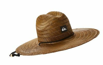 8d435e58 QUIKSILVER YOUNG MENS Pierside Straw Hat Hat, Dark Brown, Large ...