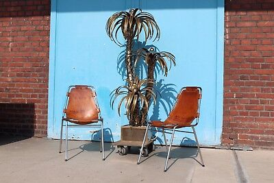 SELTENE DESIGNER MAISON Jansen Palm Tree Lamp Lampe Messing Vintage ...