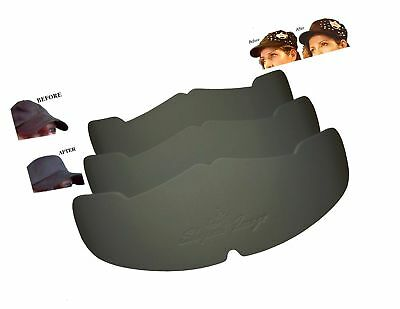 1b219b6a596 3Pk. Black Manta Ray Baseball Caps Crown Inserts for Low Profile Caps