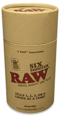 RAW Six Shooter Cone Filler - Fills 1,2,3 or 6 prerolled Kingsize cones at once!
