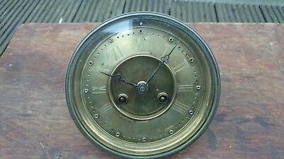 Brass Dial clock movement Glass And Bezel For Spares Or Repair