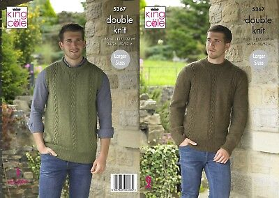 KINGCOLE 5367 Adult DK KNITTING PATTERN  -sizes 34-52 -not the finished garments