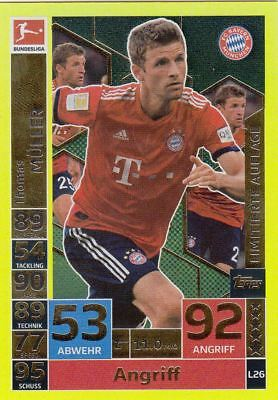 Topps Match Attax Action 2018 /19 - L26  Thomas Müller  Limitierte Auflage