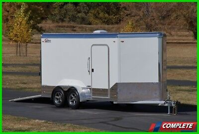 Light Weight Legend Aluminum 7 X 14 V-Nose Enclosed Cargo Motorcycle Trailer