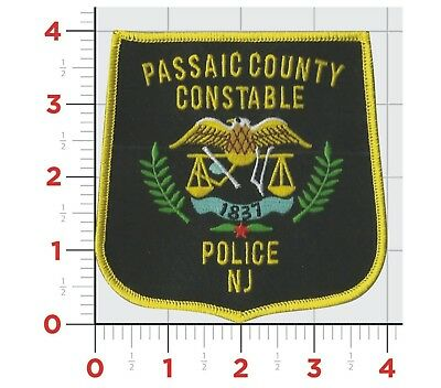 New Jersey Passaic County Constable Police Patch Badge New