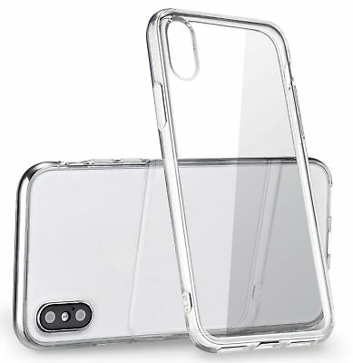 Apple iPhone X XS Case Silicone Clear Bumper Gel iPhone 10 10S Cover