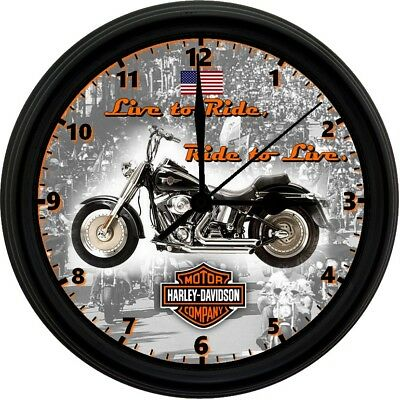 HARLEY DAVIDSON, 8in. Unique Homemade Wall Clock, Battery Included