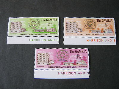 GAMBIA 1967 TOURIST YEAR SET of 3  SG 250-2 MNH MARG. COPIES with PRINTERS NAME