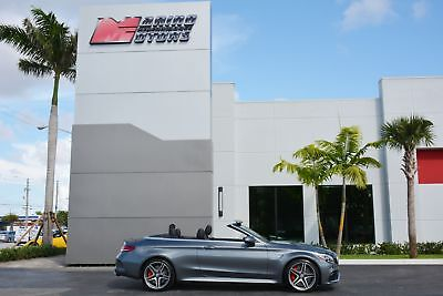 2017 Mercedes-Benz C-Class AMG C 63 S 2017 C63 S AMG CABRIOLET - 1 OWNER FLORIDA CAR - RARE COLORS - LIKE NEW