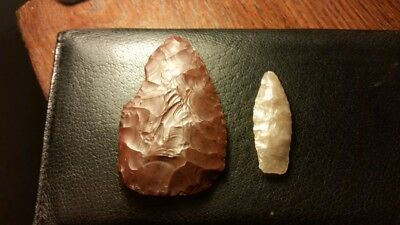 Northern Colorado Paleo Knife and Mckean Arrowhead Point.