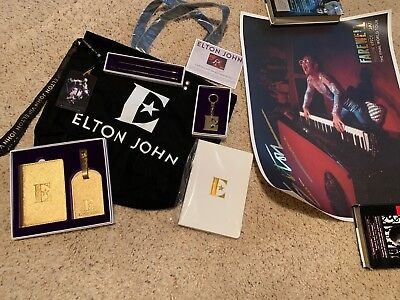 NEW Elton John VIP Gift Bag - Farewell Yellow Brick Road Tour- Memorabilia Swag