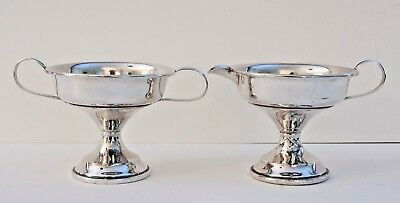 Vintage Matching R S Co. Weighted Sterling Silver Creamer and Sugar Bowl Set
