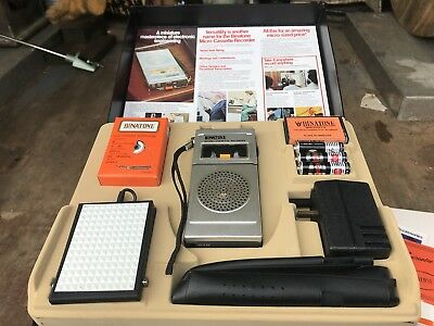 Vintage Binatone Micro Cassette Recorder Kit Boxed Brand New Old Stock Look