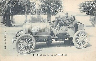 Aviation History-Driver and Mechanic Le Blond in 125 ch2 Hotchkiss