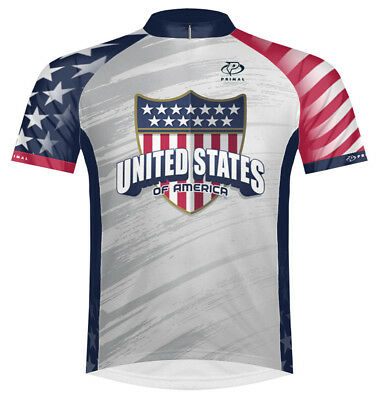 Primal Wear United States USA Cycling Jersey Mens short sleeve bicycle bike  +sox e0f6eb59d