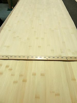 """Blonde Natural Bamboo Wide wood veneer sheet 48/"""" x 96/"""" paper back 1//40/"""" thick"""