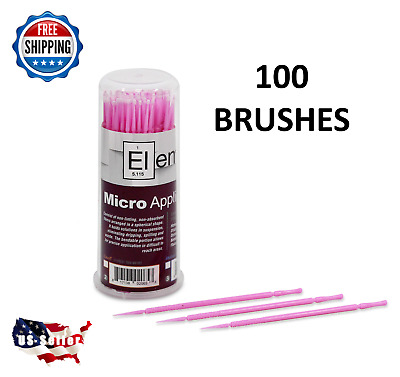 100 ELEMENT Micro Applicator Microapplicators Microbrush Dental - X-SMALL/Pink