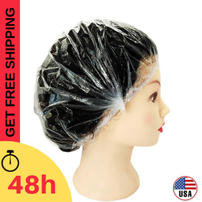 Disposable Shower Caps Bathing Elastic Clear Hair Care Protector 120 PCS