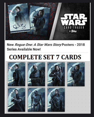 Topps Star Wars Card Trader Rogue One 2018 Posters [Set 7 Cards] Jyn++