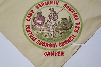 D21 BSA Neckerchief, Camp Benjamin Hawkins, Central Georgia Council GA 1960s