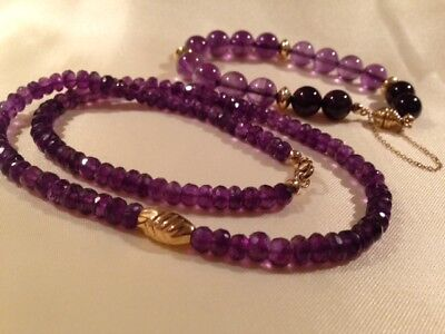 Herrliches SET 375 Gold ARMBAND COLLIER Kette AMETHYST Sogni d'Oro