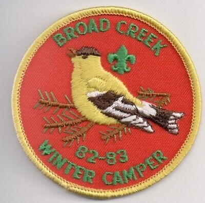 D BSA, Camp Broad Creek Reservation 1982-83, Baltimore Area Council Maryland MD
