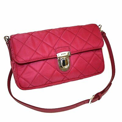 453767cee119 PRADA TESSUTO IMPUNTU Pattina Quilted Nylon Shoulder Bag Burgundy ...