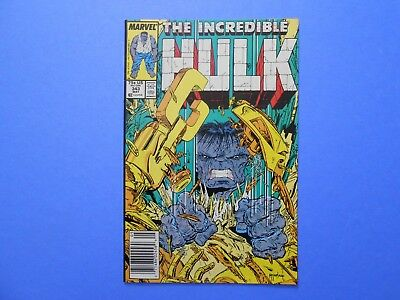 1988 MARVEL THE INCREDIBLE HULK #343 TODD McFARLANE ART GREY HULK COPPER AGE