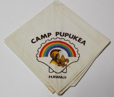 D25 BSA Neckerchief, Camp Pupukea, Aloha Council, Hawaii HI