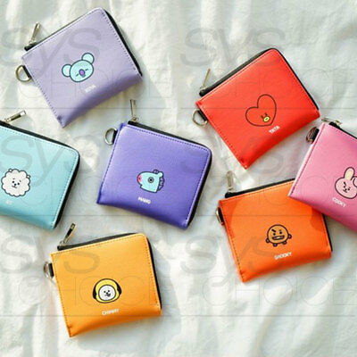 BTS BT21 Official Authentic Goods PU Half Wallet 7Characters by Kumhong Fancy