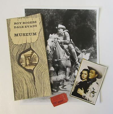 Roy Rogers Museum Pamphlet, Ticket Stub, 8 x 10 Glossy Photo, Victorville, CA