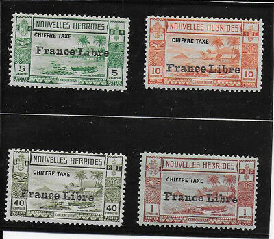 FRENCH NEW HEBRIDES 1941 Postage Dues SGFD77/8, 80/1 mint