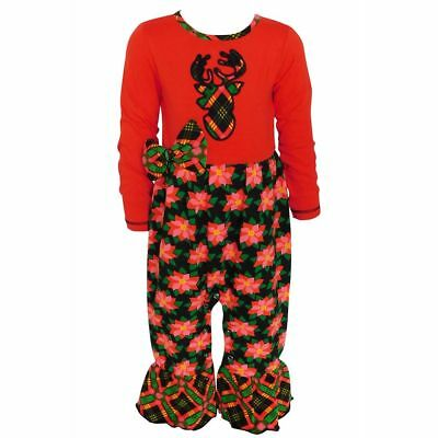 AnnLoren Baby Girls Red /& White Christmas Tree Romper Outfit Size 12-18 Months