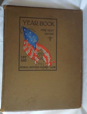 WWI FT Riley Kansas 1917-1918 Medical Officers Training Camp Yearbook