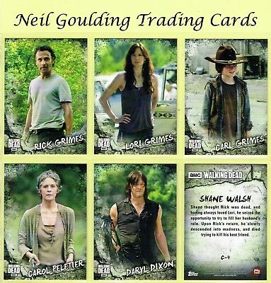 The Walking Dead - ROAD TO ALEXANDRIA ☆ CHARACTER CARDS ☆ Inserts #C-1 to #C-20