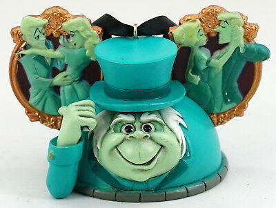 NEW Disney Haunted Mansion Hitchhiking Ghost Ezra Mickey Ear Hat Ornament LE2000
