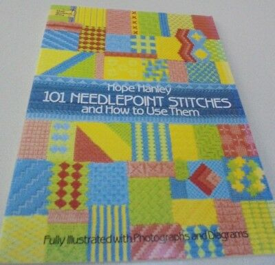 101 Needlepoint Stitches how to use them Illustrated Stitches Dictionary Book