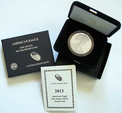 2013 Proof American Silver Eagle - FREE Shipping - Nice!
