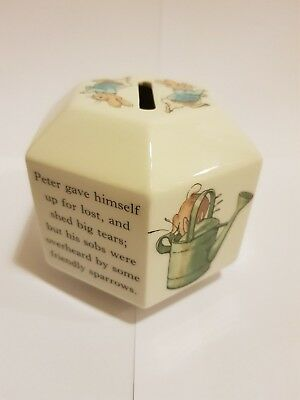 Peter Rabbit WEDGWOOD Money Box Frederick Warne & Co 1993 -Pot Collector Vintage