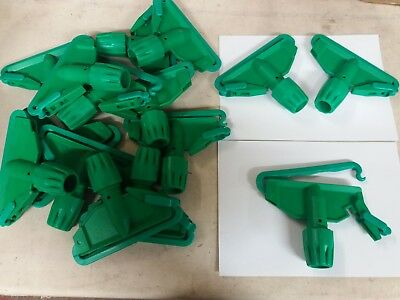 15 x Green Plastic Kentucky mop holders ADDIS 1304A