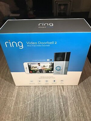 Ring Video Doorbell 2-1080p HD Video 2-Way Talk-Motion Detection WiFi-Connected
