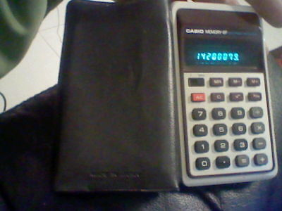 Casio Electronic Calculator Calculadora Memory 8F Working Japan