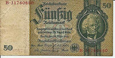 Vintage Original  German ww2 Reichmarks   Wehrmach Money