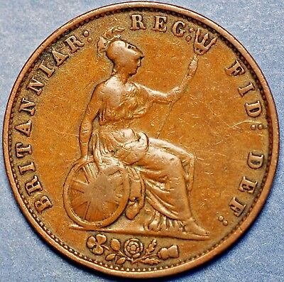 1853 United Kingdom. Half Penny . Victoria Queen .