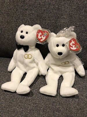 d383ae2aa43 TY MR   Mrs Beanie Baby Bears With Original Tag - £14.00