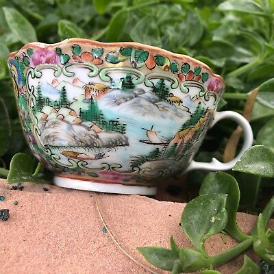 19th Century Antique Chinese Export Famille Rose Porcelain  CUP