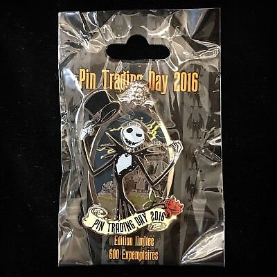 DLRP LE 600 Nightmare Christmas Jack Skellington DLP Disney Pin Trading Day 2016